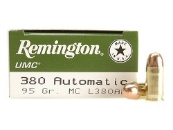 380 ACP Remington UMC 95 grain FMJ